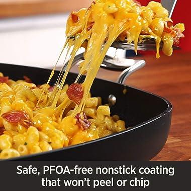 All-Clad E7859464 HA1 Hard Anodized Nonstick Dishwasher Safe PFOA Free Chefs Pan / Wok Cookware, 12-Inch, Black
