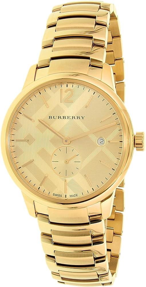 Burberry, orologio per uomo, in acciaio inossidabile olaccato oro, placcatura ionica 0822138048293