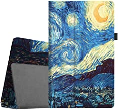 Fintie Folio Case for All-New Amazon Fire HD 10 Tablet (Compatible with 7th and 9th Generations, 2017 and 2019 Releases) - Premium PU Leather Slim Fit Stand Cover with Auto Wake/Sleep, Starry Night