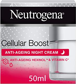Neutrogena Face Night Cream, Cellular Boost, Anti-Ageing Moisturizer, 50ml