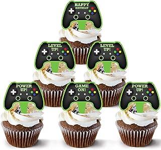 Video Game Controller Cake Topper 48 Count - Gamer Cake Topper Decoration | Video Game Cupcake Topper Supply | Game Contro...