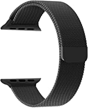 Priefy Watch Strap Magnetic Closure Compatible with iWatch Series 1 2 3 {38MM Black}