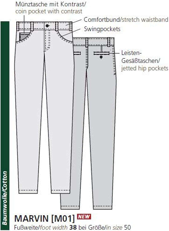 Club of Comfort 7101 Pantalon pour homme Coupe droite Jaune (85)