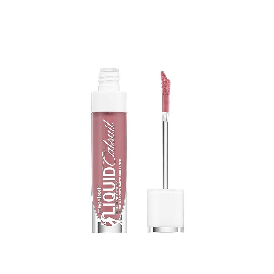 見落とすバッチ短くするWET N WILD MegaLast Liquid Catsuit High-Shine Lipstick - Send Nudes (並行輸入品)