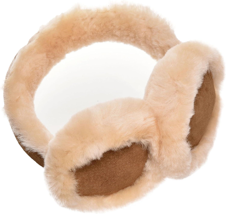 Lambland Genuine Sheepskin & Suede Earmuffs