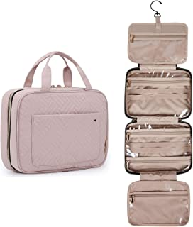 BAGSMART Toiletry Bag Travel Bag with Hanging Hook, Water-resistant Makeup Cosmetic Bag Travel Organizer for Accessories, ...