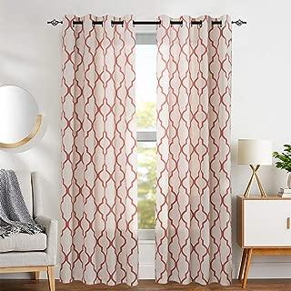 quatrefoil print curtains