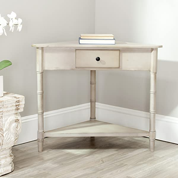 Safavieh American Homes Collection Gomez Vintage Grey Corner Table