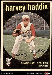 1959 Topps # 184 Harvey Haddix Cincinnati Reds (Baseball Card) Dean's Cards 3.5 - VG+ Reds