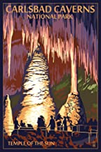 Carlsbad Caverns National Park, New Mexico - Temple of the Sun (12x18 Fine Art Print, Home Wall Decor Artwork Poster)