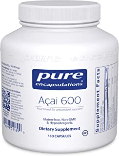 Pure Encapsulations - Acai 600 - Hypoallergenic Berry and Fruit Supplement for Antioxidant Protection - 180 Capsules