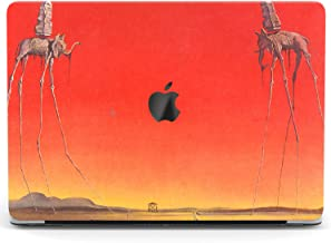 Wonder Wild Case for MacBook Air 13 inch Pro 15 2019 2018 Retina 12 11 Apple Hard Mac Protective Cover Touch Bar 2017 2016 2015 Plastic Laptop Print Elphants Art Red Salvador Dali Surreal Animal Sun