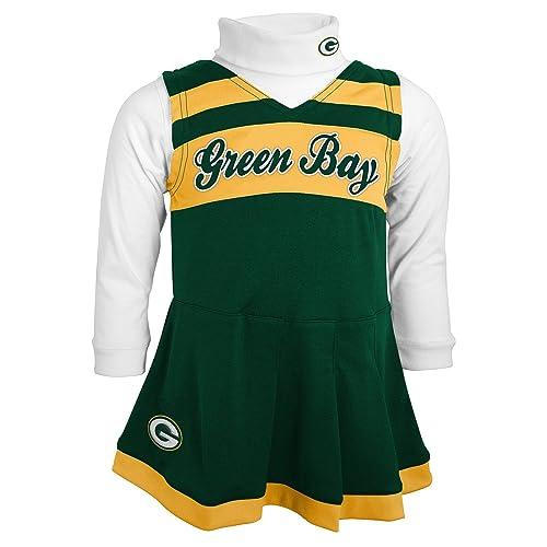 NFL Green Bay Packers Girls Cheer Jumper Dress with Turtleneck Set c450b0c5c