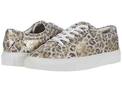 J/Slides Lacee (Gold/White Leather Leopard Snake Print) Women