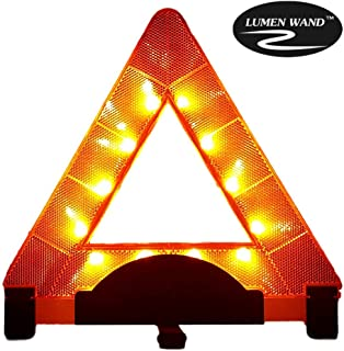 Lumen- Warning Triangle Emergency Reflective Road Safety   Durable Quality Orange Triangle