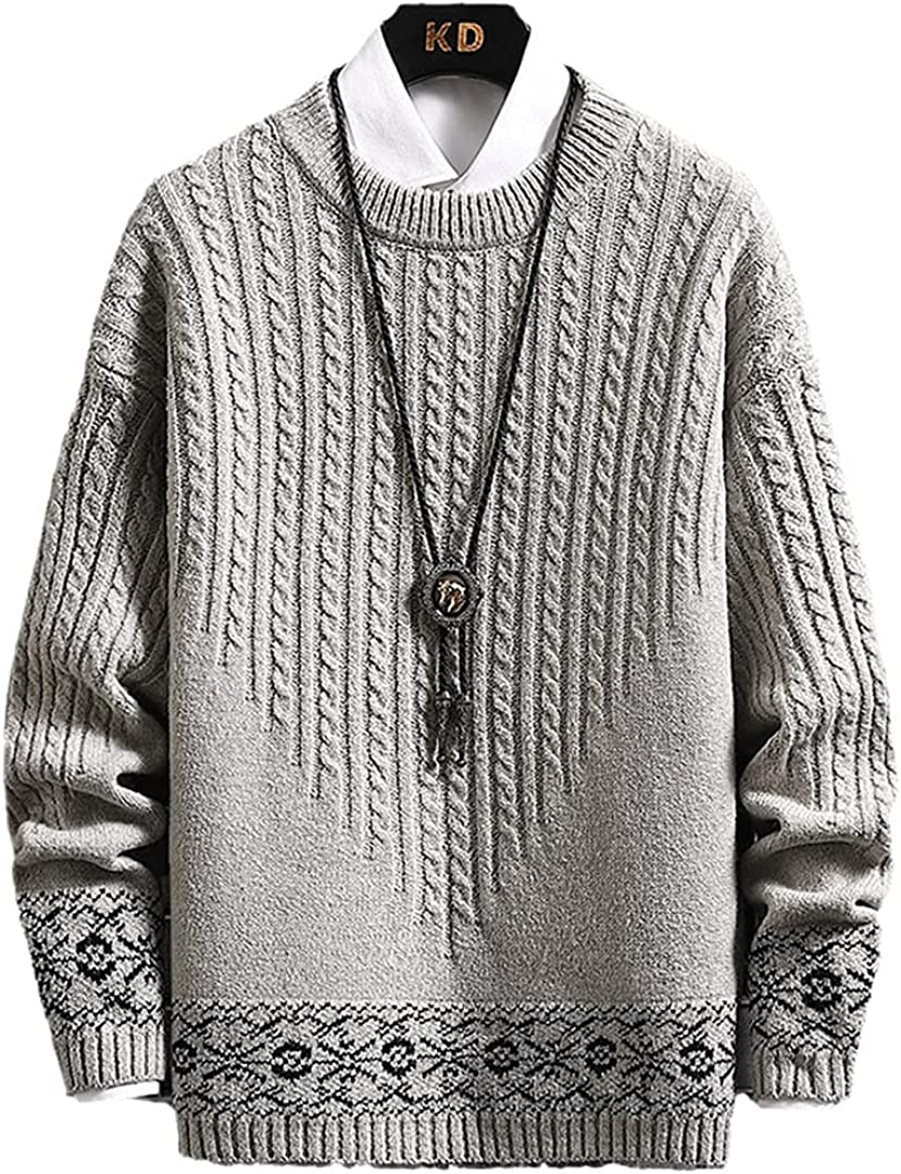 HONSILLENGS 2021 spring and summer Fort Worth Mall new Mens Knit Pullovers Thick Sweaters Cashmere Sweater