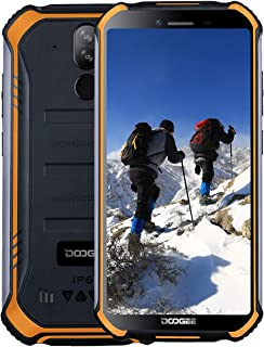 DOOGEE S40 Lite 3G Rugged Smartphone Android 9.0, Dual SIM Free Mobile Phones 2GB + 16GB 5.5 inch IP68 Waterproof Cell Phone, 4650mAh Quad-Core, 8MP+5MP Rear Cameras, Fingerprint Face ID, Orange
