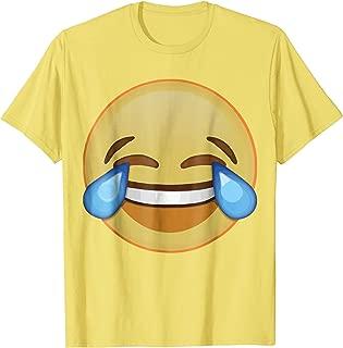 Funny Halloween Tears of Joy Emoji Costume T-Shirt
