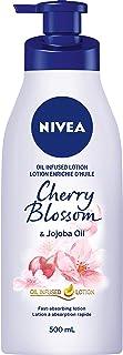 NIVEA Oil-Infused Cherry Blossom & Jojoba Oil Body Lotion (500mL), Body Cream with Delicate Scent, Skin Care with Jojoba O...