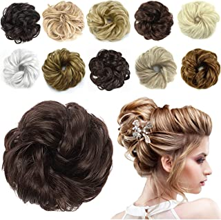 HAIRREAL Hair Bun Extensions Messy Hair Scrunchies Donut Chignons Hairpiece Scrunchy Updo..