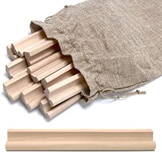 Pure Ponta Scrabble Tile Holders   10 Pack Scrabble Racks with Canvas Bag for Scrabble Tray Replacement and Crafts   10 Light Maple Wood Scrabble Trays