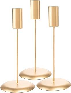 Darice DTFT30402 Candlestick Holders David Tutera, 3Piece, Gold Candlestick Holders