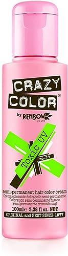 Crazy Color Crème colorante capillaire semi-permanente (UV toxique) 100ML