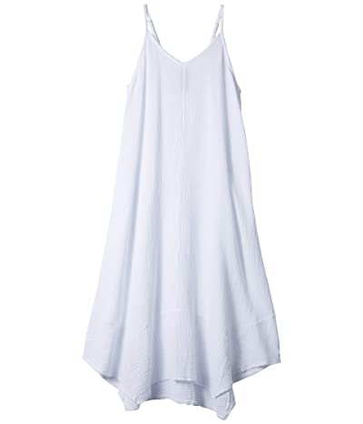 bobi Los Angeles Handkerchief Dress in Gauze (White) Women