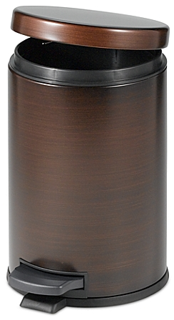 India Ink Oil Rubbed 4-1/2-Liter Bath Step On Trash Can in Bronze - Bed Bath & Beyond