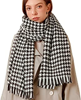 Large Soft Plaid Scarf Women Winter Knit Blanket Scarf Cashmere Feel Shawl and Wraps (38)