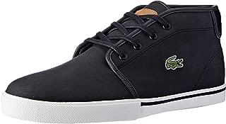 Lacoste Men's Ampthill 119 1 Men's Fashion Shoes, BLK/LT BRW