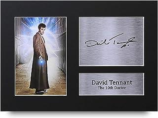 HWC Trading David Tennant A4 Sin Marco Regalo De Visualización De Fotos De Impresión De Imagen Impresa Autógrafo Firmado por Dr Who Ventiladores De Programa De TV