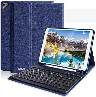 iPad 10.2 ケース キーボード 第7世代 (ipad pro 10.5 2017/ iPad Air3 2019) 通用 Apple pen 収納・ワイヤレス Bluetooth 着脱式キーボード付き・ オートスリープ・スタンド機能・多...