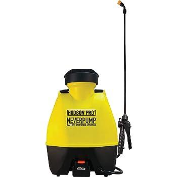 HUDSON 19001 Outdoor Roller Shades 4 Gallon NeverPump Bak-Pak Sprayer, Yellow