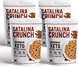 Catalina Crunch Cinnamon Toast Keto Cereal (4-Pack): Keto Friendly, Low Carb, Zero Sugar, Plant Protein, High Fiber, Glute...