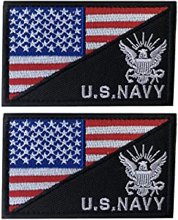 X.Sem U.S.Navy USN Patch - 2 Pack Tactical Patches Embroidery Morale Emblem (Red White(Eagle))