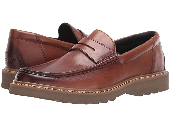 Rockport  Peirson Penny Keeper (Cognac Leather) Mens Shoes