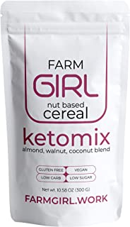 Farm Girl: Keto Maple Cinnamon Breakfast Cereal - Gluten and Grain Free - Perfect Ketogenic Friendly Food - Low Carb High Protein Products - Good Diabetic Diets 10oz