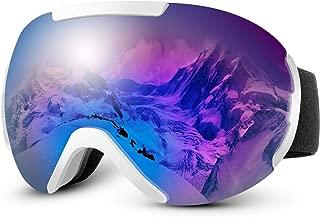 IREENUO OTG Ski Goggles Snowboard Goggles Anti Fog Snow Goggles for Men Women Youth,100% UV Protection