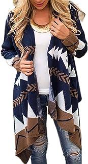GFBVC Cárdigan De Mujer Capa del suéter del otoño y del Invierno Nacional del Estilo Largo de Las Mujeres Hizo Punto la Re...