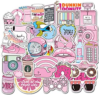 Girl Cute Lovely Laptop Stickers Water Bottle Skateboard Motorcycle Phone Bicycle Luggage Guitar Bike Sticker Decal (50Pcs/Pack - B)