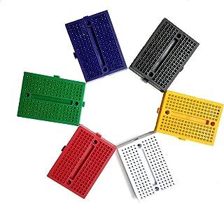 170 Points Small Solderless Prototype Board ZY-170 45mm x 35mm for Arduino Shield White 6Pcs YXQ Mini Breadboard