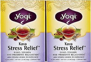 Yogi Tea Kava Stress Relief, Herbal Supplement, Tea Bags, 16 ct, 2 pk