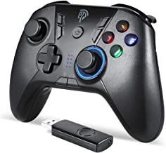 Wireless Gaming Controller, EasySMX PC Game Controller Joystick with Dual-Vibration Turbo and Trigger Buttons for Windows/Android/ PS3/ TV Box (Black Grey)