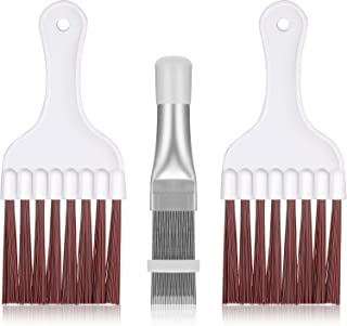 3 Pieces Air Conditioner Condenser Fin Cleaning Brush, Stainless Steel Air Conditioner Fin Cleaner, Refrigerator Coil Cleaning Whisk Brush