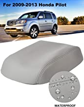 ISSYAUTO 2009-2015 Pilot Center Console Cover Replacement Gray Armrest Cover
