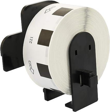 Rolle DK11221 DK-11221 23mm x 23mm Quadratische Etiketten kompatibel f/ür Brother P-Touch QL-500 QL-570 QL-700 QL-800 QL-810W QL-820NWB QL-1050 QL-1060N QL-1100 QL-1110NWB 1000 Etiketten pro Rolle