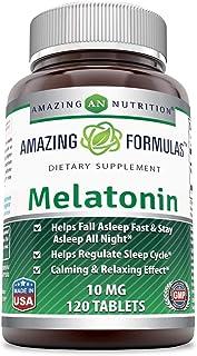 Amazing Nutrition Melatonin –10Mg Tablets - Best ChoiceofNatural Sleep Aid Supplement – Promotes CalmingandRelaxing ...