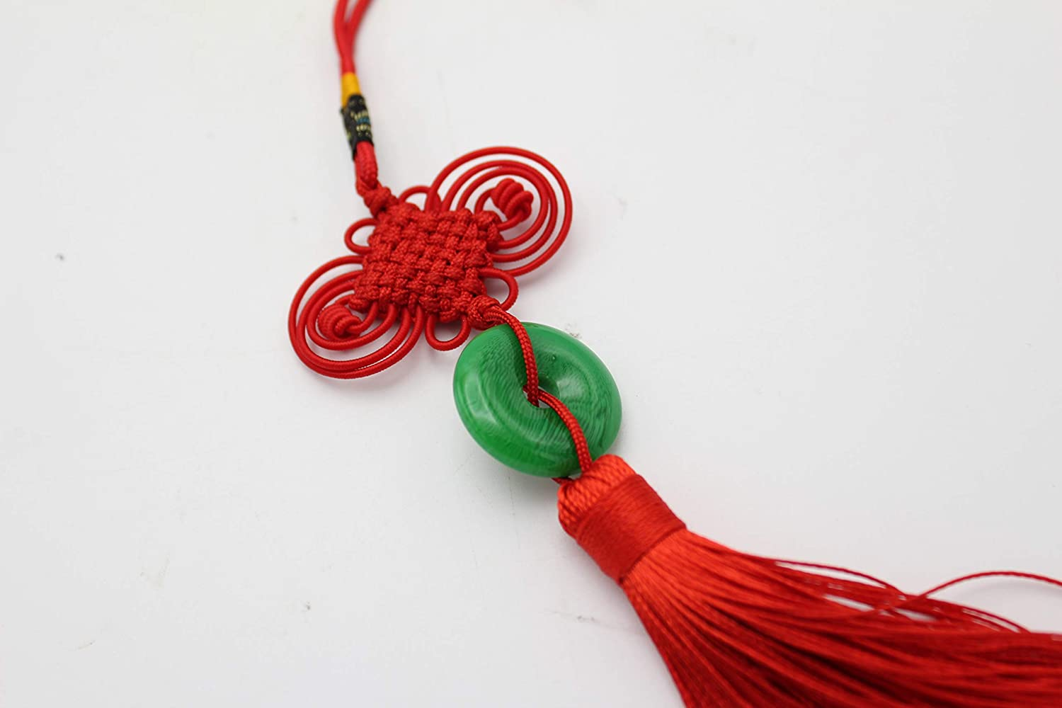Zeen Accueil D/écorations Artisanat Feng Shui Noeud Chinois Mode Tassel Chine Mascotte Lucky Charm