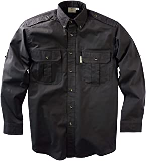 Tag Safari Trail Shirt for Men Long Sleeve, 100% Cotton Shirt for Hunters, Explorers, Photographers and Journalists